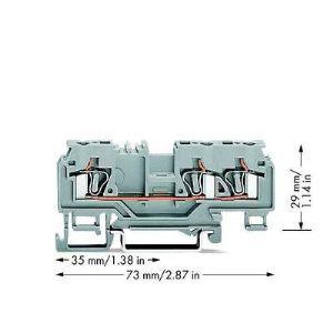 Wago 880-681 - Borne de passage pour 3 conducteurs 100 pc(s)