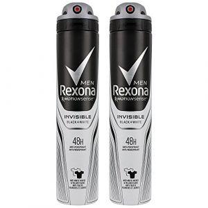 Rexona Men Déodorant Homme Spray Anti Transpirant Invisible Black White 200ml