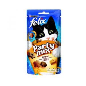 Purina Felix Party Mix Original - Friandises au goût de poulet, de foie et de dinde (60g)