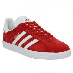 Adidas Gazelle, Baskets Basses Homme, Rouge (Scarlet/FTWR White/Gold Met.), 42 2/3 EU