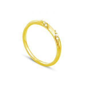 Rêve de diamants 3612030092459 - Bague en or jaune sertie de diamants