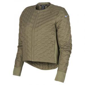 Nike Veste de Running Veste de running AeroLoft pour Femme - Olive - Couleur Olive - Taille XL