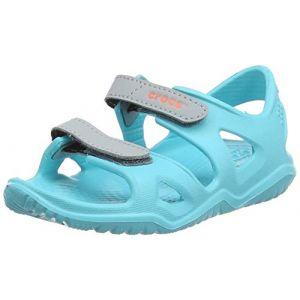 Crocs Swiftwater River Sandal, Sandales Bout Ouvert Mixte Enfant, Bleu (Pool 40m) 27/28 EU