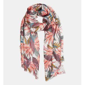 Guess Foulard blanc à imprimé végétal Multicolore - Taille 100X195