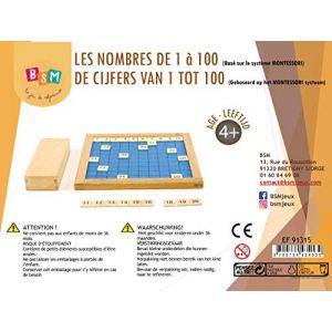 EDUFUN Les Nombres de 1 à 100 Ed 91315 Naturel et Bleu