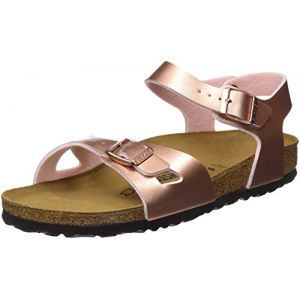Image de Birkenstock Rio, Sandales Bride Arriere Filles, Rose (Soft Metallic Rose Gold Soft Metallic Rose Gold), 33 EU