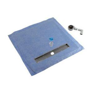 Nicoll Panneau de sol PSE haute densité avec caniveau | A: 90 - B: 90 - C: 65 - Dimension: 90 x 90 cm