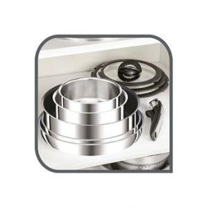 Tefal Casserole INGENIO RESERVE COLLECTION Set 4 pièces : 3 casseroles 16/18/20 cm (1,5/2,1/3 L) + 1 poignée