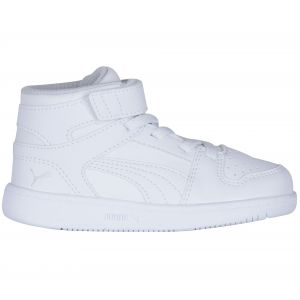 Puma Baskets Rebound Layup Sl Velcro Infant White / Black / Gray Violet - EU 22