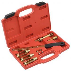 VidaXL Kit d'outils pour compresseur de ressort de soupape 8 pcs