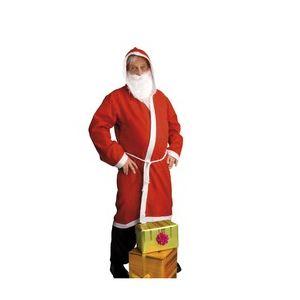 Fiesta guirca Déguisement Père Noël adulte avec barbe et manteau (taille L)