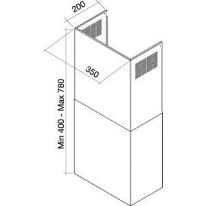 Falmec REF118094 - Extention de cheminée pour hotte KCQAN000I