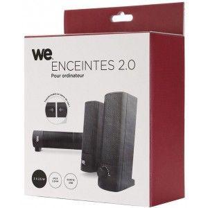 WE Enceinte 2.0 2x 2,5 W