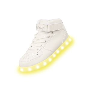 Yvolution Chaussures hautes LED Neon Kyx Blanc