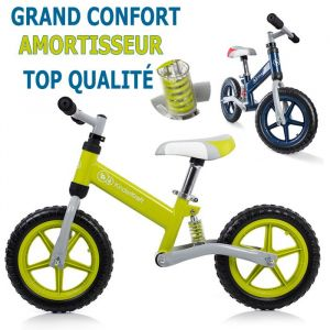 Kinderkraft Draisienne Evo Amortisseur Vélo de Marche Sans Pédales Très Resistant Vert