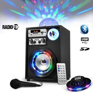 Koolstar Enceinte Mobile Batterie Karaoké 60W USB/ BT /FM LED & Magic BALL + Micro + Ovni