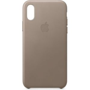 Apple Coque iPhone XS cuir Taupe