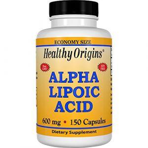 Healthy Origins Acide alpha lipoïque 600 mg 150 capsules