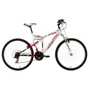 KS Cycling Vtt Tout Suspendu 26 Zodiac Blanc Tc 46 Cm