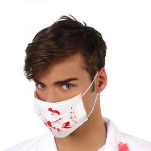 Atosa Masque blanc tâches de sang Halloween Taille Unique