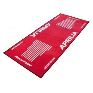 Bike It Tapis de garage BikeTek Aprilia rouge 190x80 cm