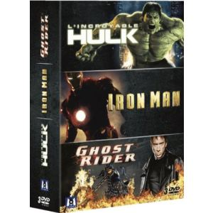 Coffret L'Incroyable Hulk + Iron Man + Ghost Rider