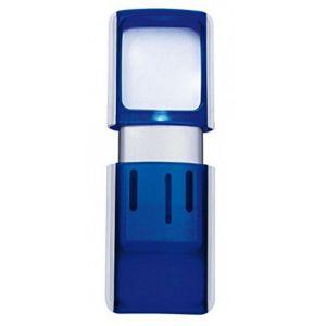 Wedo 271 7503 - Loupe rectangulaire avec éclairage à LED, bleu