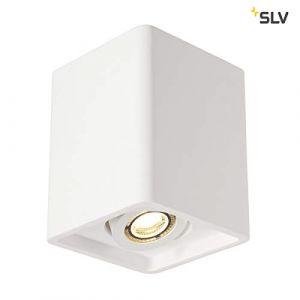 SLV Plafonnier Ampoule halogène, LED GU10 EEC: selon lampoule (A++ - E) 35 W Plastra Box 148051 blanc