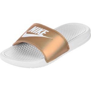 Nike Claquette Benassi pour Femme - Blanc - Taille 36.5 - FeHomme