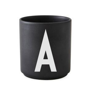 Design Letters AJ Mug Porcelain Black A black / white