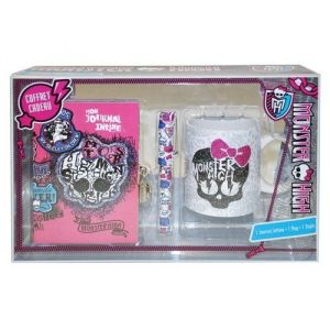 Mon0580 - Coffret cadeau journal intime + stylo + mug Monster High
