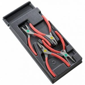 Facom Modules 4 Pinces fermantes / ouvrante pour circlips becs droit et coudés MOD.PC