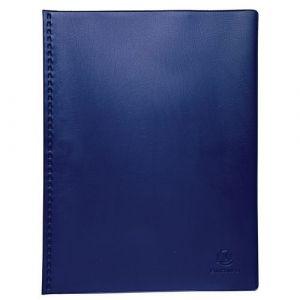 Exacompta Lot de 5 protège-documents PVC - 60 vues - vega opaque - A4 - Bleu - 88322E