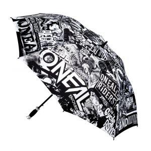 O'neal Parapluie Moto Attack noir/blanc