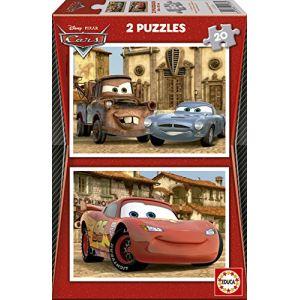 Educa Puzzle Cars 2 : Flash McQueen, Martin et Finn McMissile 2 x 20 pièces