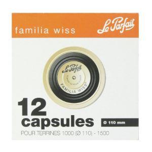 Le Parfait 12 capsules Familia Wiss pour terrine (110 mm)