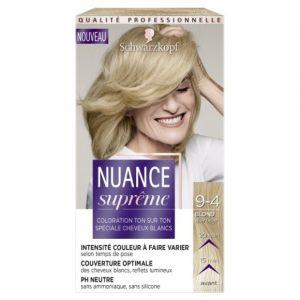 Schwarzkopf Nuance Suprême - Coloration Cheveux - Ton sur Ton Blond Clair Beige 9-4 - Etui 60 ml
