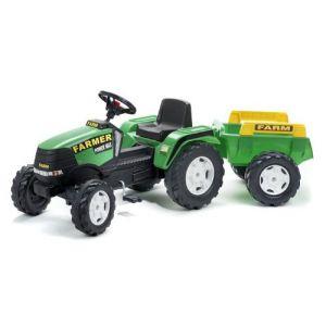 Falk Tracteur à pédales Farm Power Max avec remorque GM