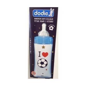Dodie Biberon Initiation+ anti-colique tétine ronde I Love Foot 6m+ 330ml