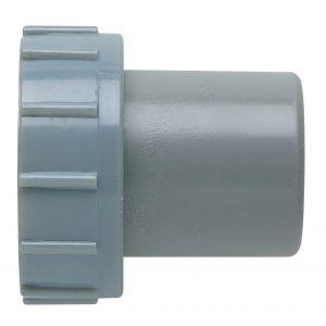 GIRPI Douille PVC grise droite - F 1'1/2 - Mâle Ø 40 mm -