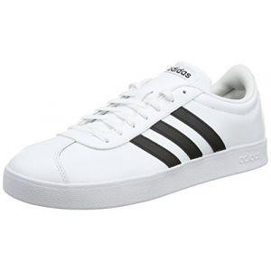 Adidas VL Court 2.0, Chaussures de Fitness Homme, Blanc (Ftwbla/Negbas 000), 44 2/3 EU