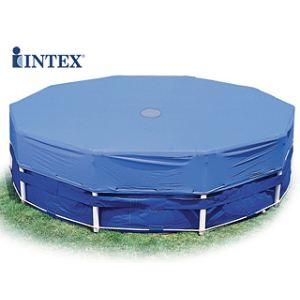 Intex 58411 - Bâche de protection Ø 3,05 x 1,83 m pour piscine tubulaire ronde Ø 3,66 m