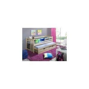 House and Garden Lit enfant Daniel avec 2 matelas en bois (90 x 200 cm)