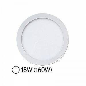 Vision-El Plafonnier LED 18W (140W) Encastrable D235 Blanc jour -