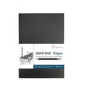 Hahnemühle Livre à croquis format portrait couverture noire 120g/m²