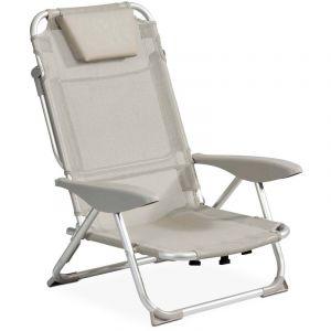 INNOV'AXE Clic clac des plages fauteuil - Gris clair - CLIC CLAC DES PLAGES BY
