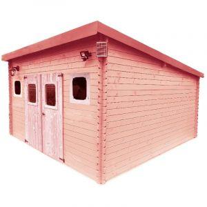 Habrita Abri madriers en douglas massif toit mono pente - 17,14 m2
