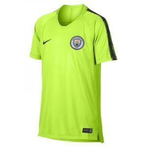 Nike Haut de football Manchester City FC Breathe Squad pour Enfant plus âgé - Jaune - Taille M - Unisex