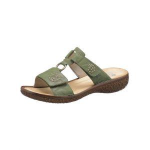 Rieker V69N2 Femme Sandale à lanières,Sandales à lanières,Chaussures d'été,Confortable,Plat,efeu/52,36 EU / 3.5 UK
