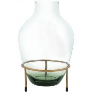 Beliani Vase en verre vert GRANBY